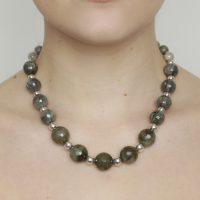 Labradorite Graduating Sterling Silver Necklace
