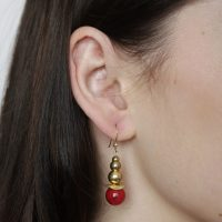 Gold and Red Coral