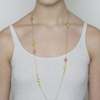 Gold Pink Tourmaline and Citrine