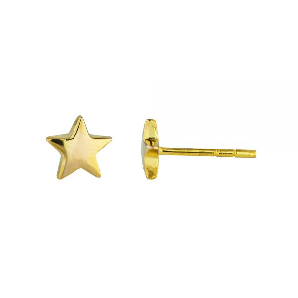 Lucky Star Studs in 9kt Gold