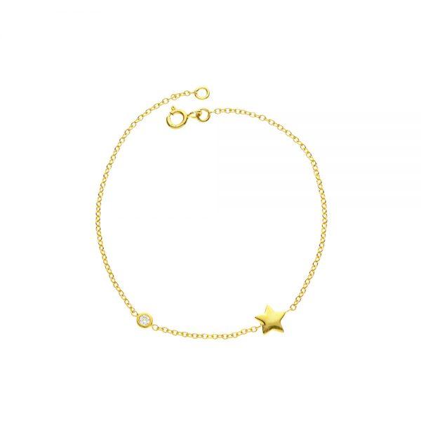 Diamond Shooting Star Bracelet in 9kt gold