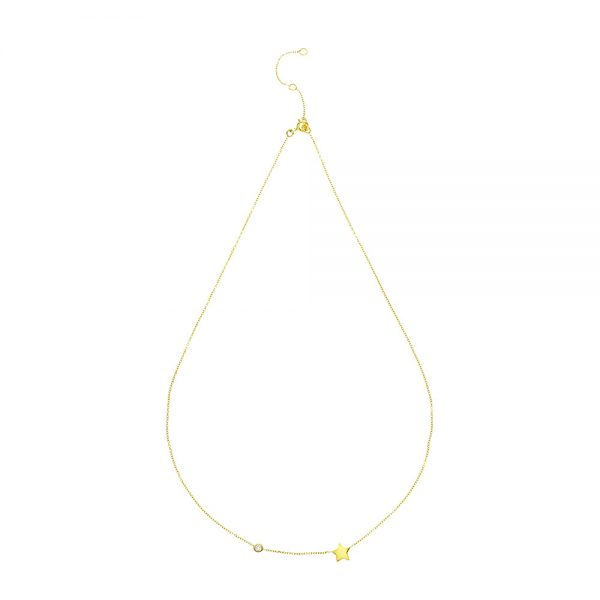 Diamond Shooting Star Necklace in 9kt gold